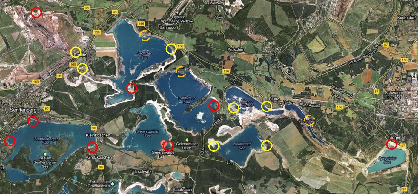 Schiffsanleger im Lausitzer Seenland