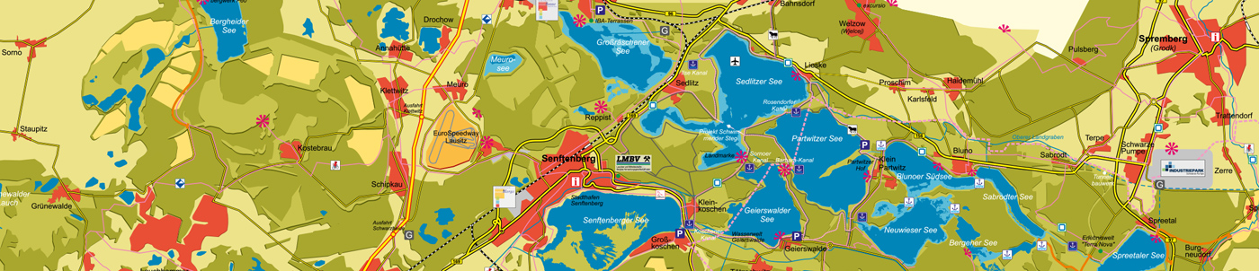 Wegeleitsystem im Lausitzer Seenland