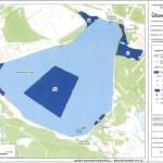 Übersichtskarte Befahrbarkeit Bärwalder See