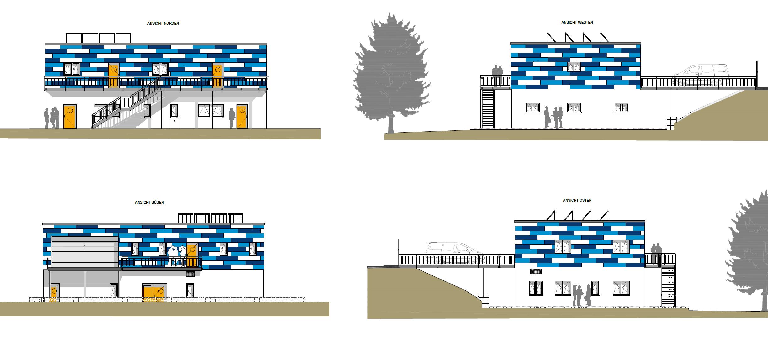 Multifunktionsgebäude des Zweckverbandes Lausitzer Seenland Sachsen am Wasserwanderrastplatz am Geierswalder See